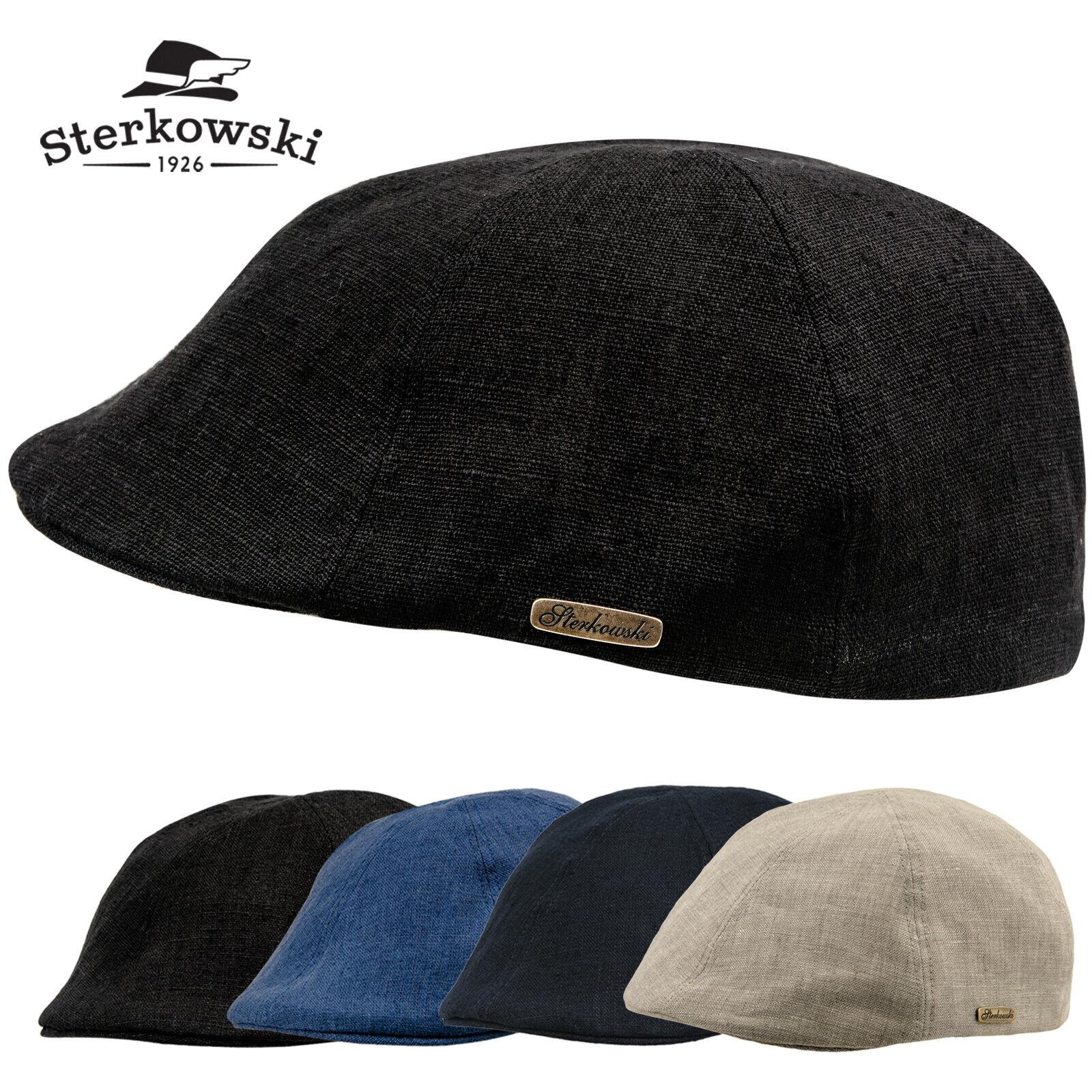 Sterkowski Rusty Linen Summer Flat Cap Super Light Duckbill Slider Hat