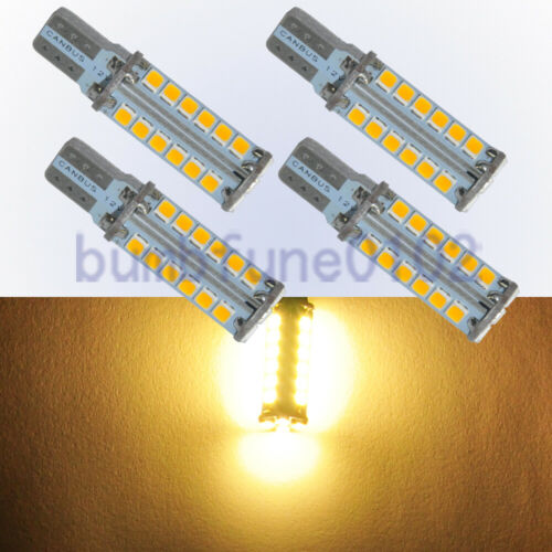 4pcs T10 28SMD 2835 LED Canbus Error Free Interior Light Wedge Bulbs Warm White