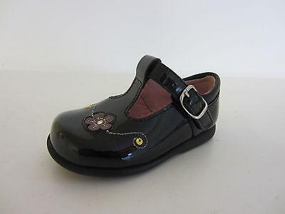 Start Rite Tilly Mädchen schwarzes Lackleder Schuhe UK Größe 4 EU20 G Fassung