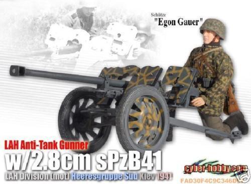 Acción Figura 1 6 Dragon Egon Gauer LAH Anti-Tank Gunner 2.8cm sPzB 41