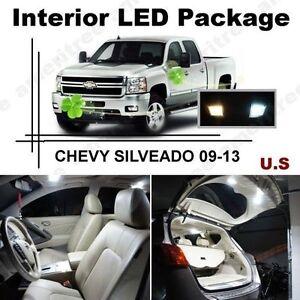 White led lights interior package kit for chevy silverado - Led interior lights for 2013 chevy silverado ...