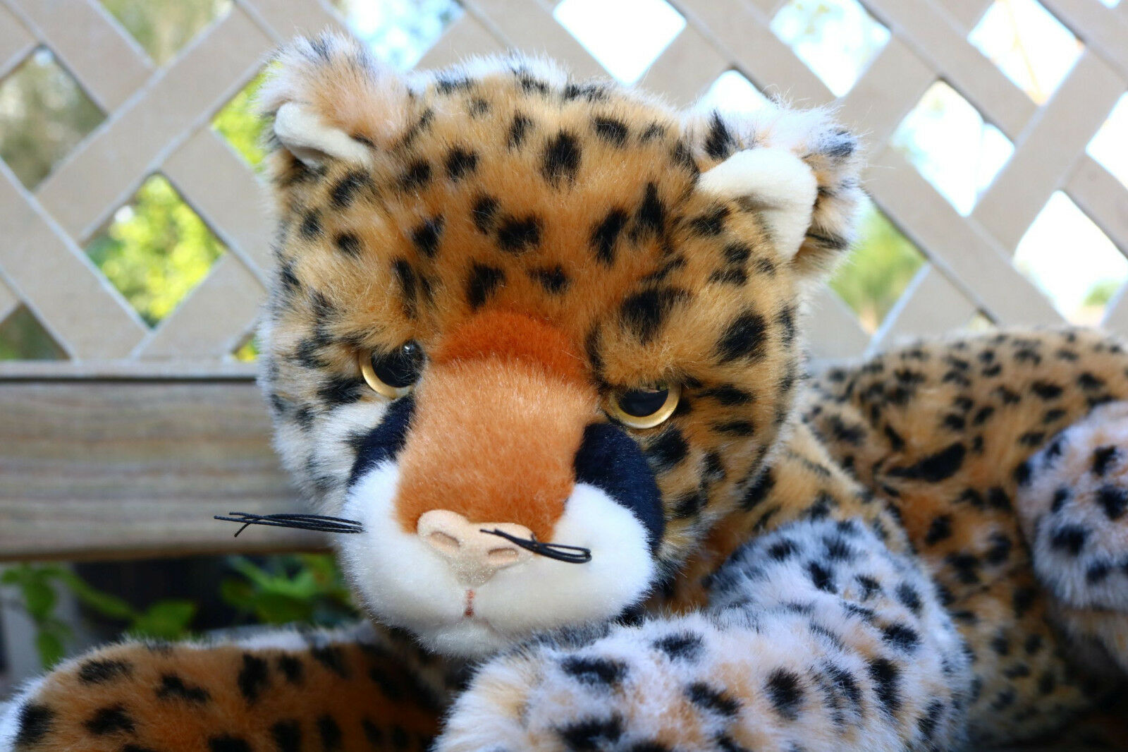 Spotted Baby Leopard Cheetah Cub Cat Stuffed Animal Cute Plush Toy Grumpy 12