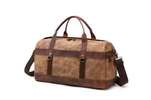 Image Is Loading Weekend Waxed Canvas Cow Leather Holdall Bag Men