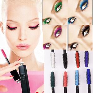 Chic-Makeup-Waterproof-Thick-3D-Mascara-Fiber-Eyelash-Extension-Curling-8-Colors