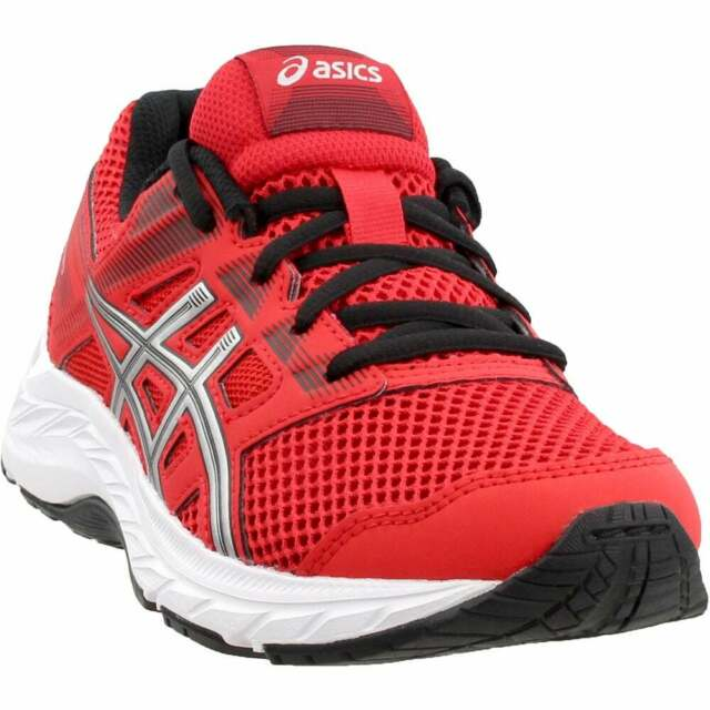 ASICS Gel-contend 5 Grade School Casual Running Neutral Shoes Red Boys - Size