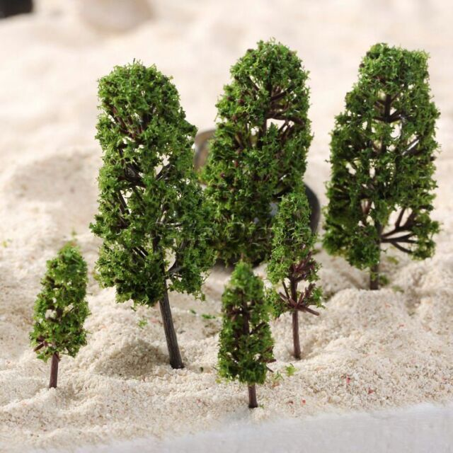 20pcs Model Trees Train Wargame Scenery Diorama 1 100-300 HO N Z Scale US  Stock