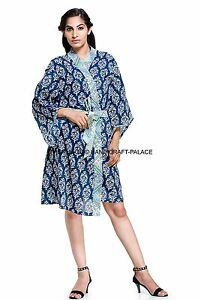 e2200a356b Image is loading Indian-Cotton-Floral-Cotton-Dressing-Gown-Wedding-Bride-