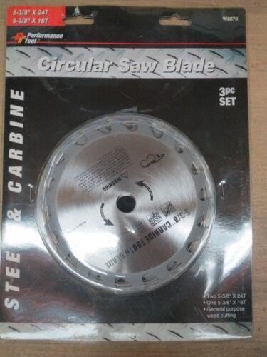 LL1162A-2 W8670 5-3//8 CIRCULAR SAW BLADE STEEL /& CARBIDE 24-18T 6 PCS NO