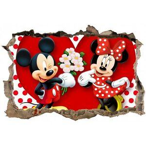 Stickers 3D Mickey minnie réf 23637 23637