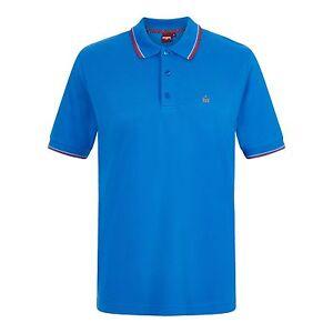 Coton Polo Pointe Roi Classique Bleu London Double Hommes Carte Merc qAYUpp