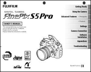 Details about FujiFilm FinePix S5 Pro Digital Camera User Guide Instruction  Manual