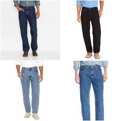 Details zu NWT Men's Levis 550 RELAXED FIT Tapered leg Cotton STONEWASH & Black Levis Jeans