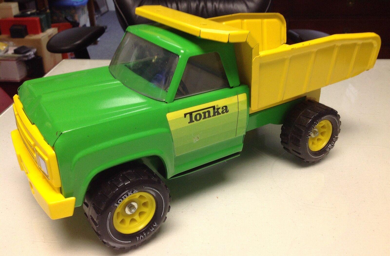 TONKA SpielzeugS DUMP TRUCK Grün Gelb BEAUTIFUL