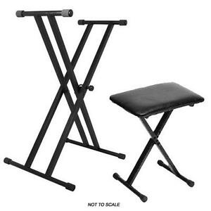 On Stage Ks7191 Double Braced Keyboard Stand And Kt7800 Keyboard Bench Package Ebay: keyboard stand and bench