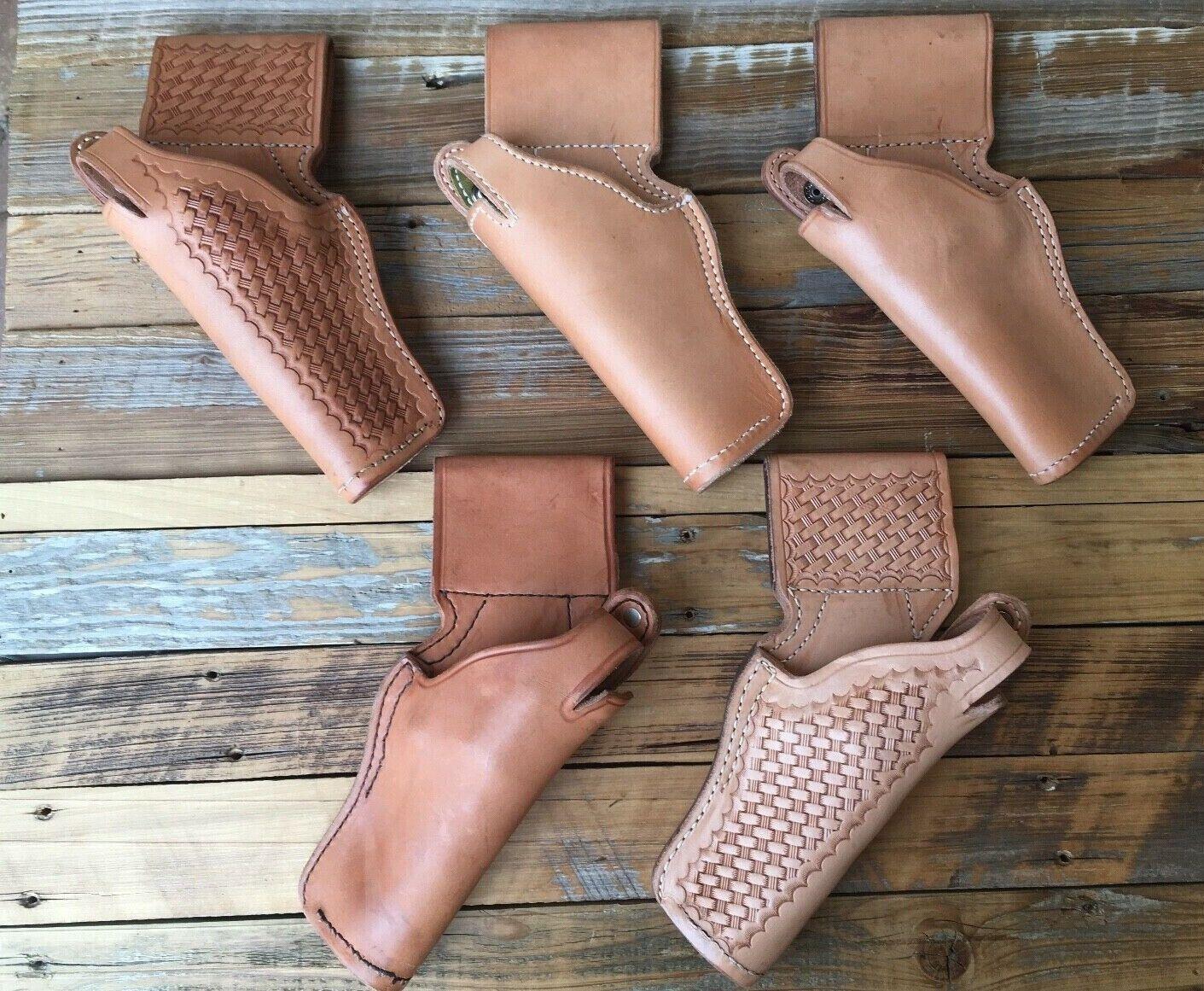 Vintage Tex zapatosmaker 35 Patrulla de Frontera Marrón Cuero Funda Para S&W K Frame 4