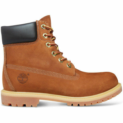Timberland 6 Inch Premium Mens 72066 Rust Nubuck Waterproof BOOTS Shoes Size 9.5