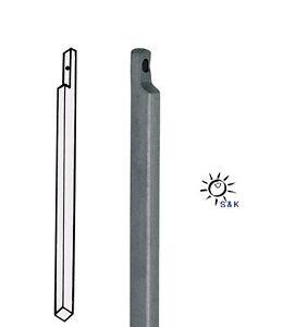 10 mm Stahl hell verzinkt mit Aussparung Treibriegelstange Länge 2000 mm D