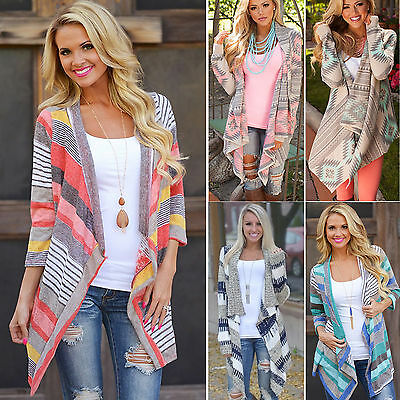 Women's Waterfall Cardigan Long Sleeve Smooth Sweater Outwear Loose Jacket Coat