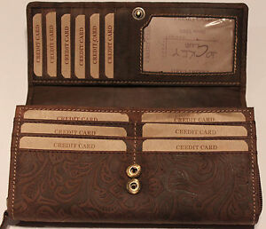 8a4f1ef1d12 Details about Wallet Natural Leather Women's Purse Card Holder Portemonnee  Jockey Club