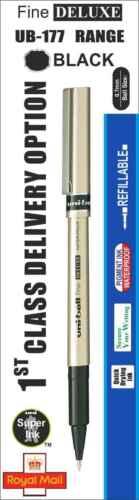 Ub-177 Fein Luxus Kugelschreiber Farbe Schwarz Rot,Blau, 5 X Uni-Ball 7mm