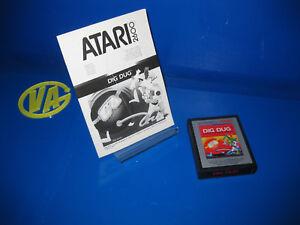 Juego-Para-Consola-Atari-2600-DIG-DUG-sin-Caja-con-instrucciones-1988