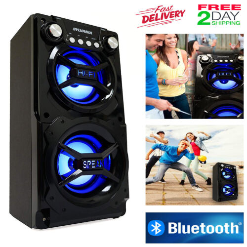 LED Altavoz Bluetooth Bocina Portatil Inálambrico Recargable USB Aux Smartphones
