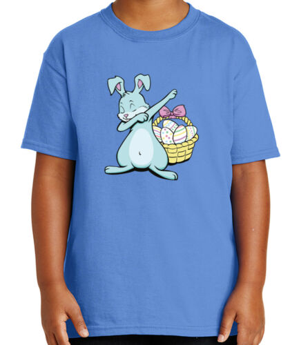 1959C Cute Dabbing Bunny Kid/'s T-shirt Egg basket Easter Dab Tee for Youth