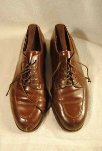 VINTAGE-Men-039-s-COLE-Haan-OXFORD-distressed-Brown-Leather-Shoes-Size-8-5-D