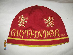 6df2587141f Image is loading Harry-Potter-Gryffindor-Beanie-Hat-Stocking-Cap-Adult-