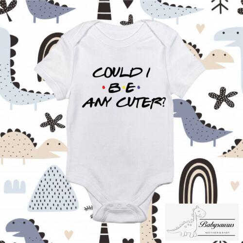 Custom Baby Grow Vest Personalised Boy Girl Babysaurus Friends Cuter