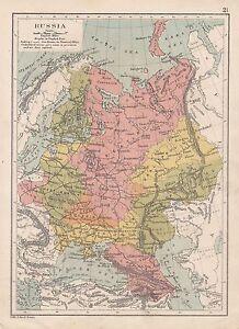 Antiquitäten & Kunst EntrüCkung C1890 Viktorianisch Landkarte ~russland~ Sea Routen Zugstrecken Ural Provinzen Komplette Artikelauswahl