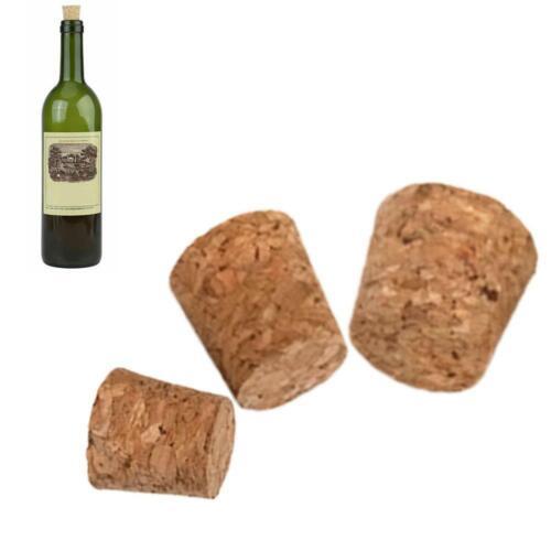 10pcs Tapered Natural Cork Bottle Stoppers Wine Corks SIZE Crafts 3 K7D9