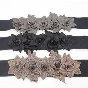 Cinturón De Mujer Primavera Elástica Ceñidor Flores Varios Accesorios Mode VEQUE