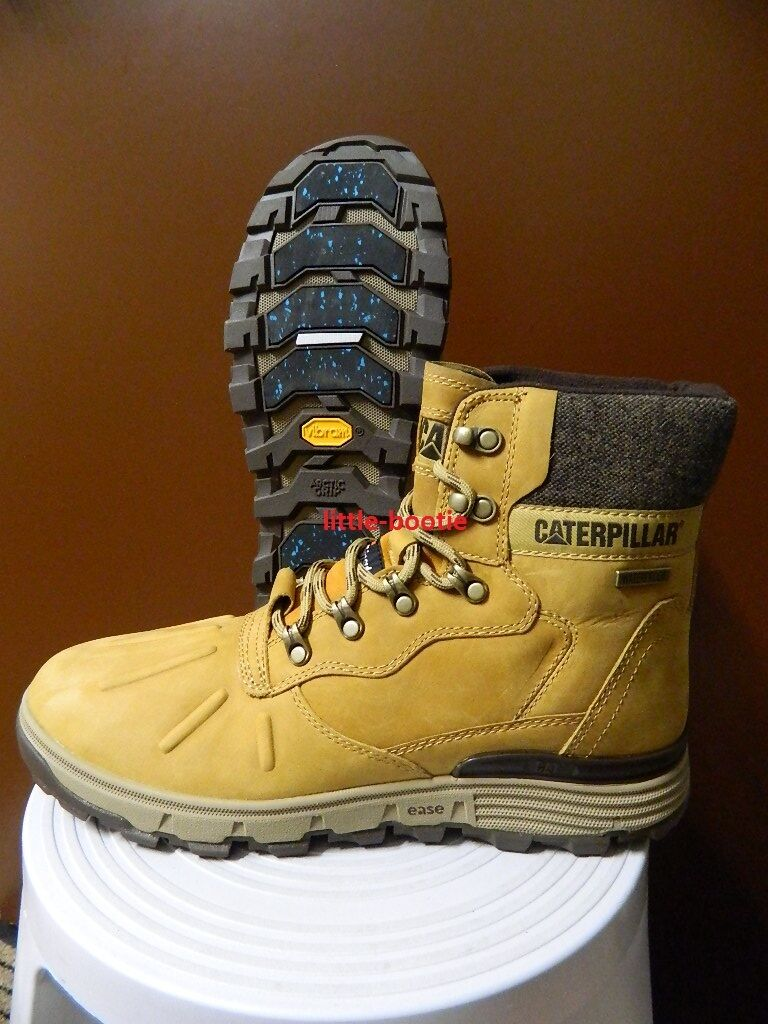 CAT Caterpillar Stiefel Herren Leder  Gr. 43 P720451 STICTION HI ICE WP beige