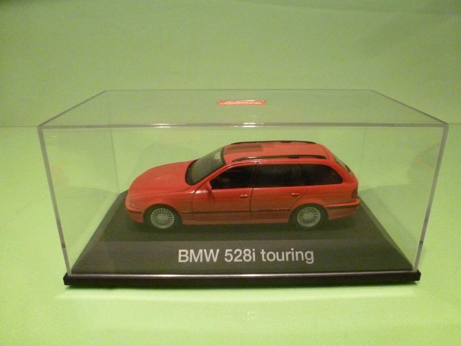 SCHUCO BMW 528i TOURING - E39 - rojo 1 43 - EXCELLENT IN BOX