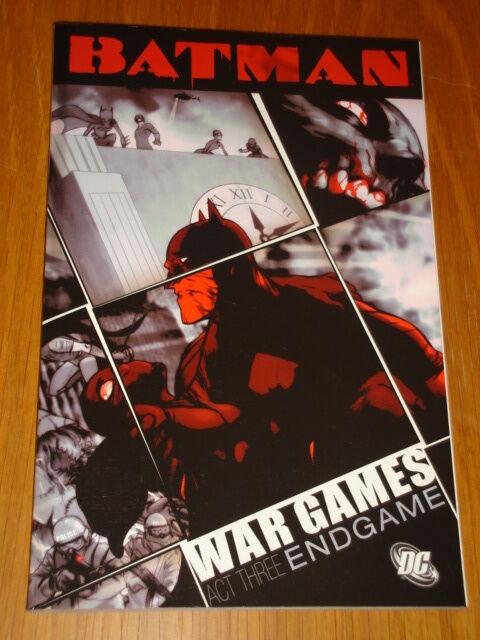 BATMAN WAR GAMES ACT 3 END GAME DC COMICS ED BRUBAKER < 9781845761226
