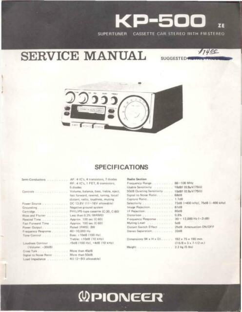 Service Manual Manual For Pioneer Kp