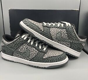 new concept 4cf3b 5ac17 Image is loading NIKE-DUNK-LOW-PREMIUM-SUPREME-ELEPHANT-PRINT-BLACK-