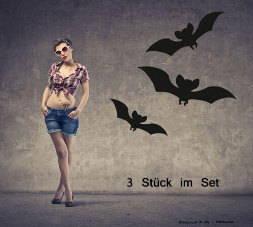 Tapisserie Halloween autocollant Bat Chauve-souris 3er set 723