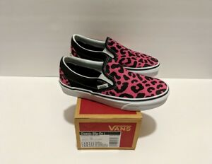 1eea9a3022a4 VANS Classic Slip On Leopard Print Pink & Black Men's US 3.5 Women's ...