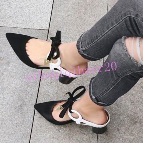 punta da Sandali coreana punta donna cinturino Scarpe a con con posteriore cinturino con tFdAqw