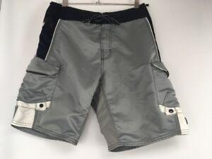 17ff6d14df VTG 90s RUSTY Silver Swim Trunk Short Board Shorts Beach Summer ...