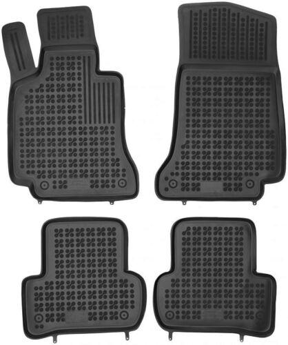 ab 2014 4-teilige schwarze Gummifußmatte für MERCEDES W205 C-Klasse Bj