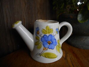 VINTAGE FTD Planter Vase Watering Can HAND PAINTED IN ITALY TCAP Used