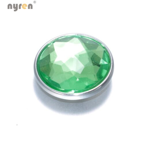 11pcs//lot Colorful Acrylic Crystal Charms 18mm snap button DIY Jewelry KZ0037