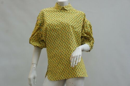 Vintage 70s-80s Puff sleeve Peter Pan Collar Blous
