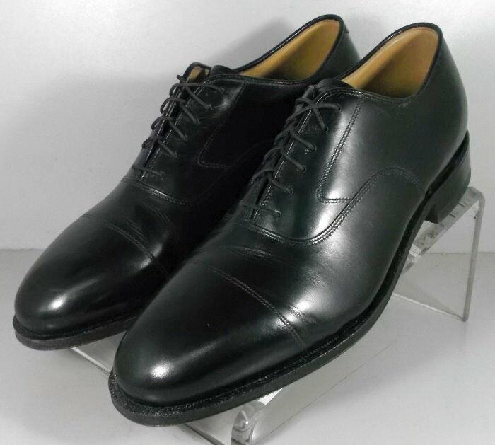 2408635 WT50 Men's Shoes 9 M Black Leather Lace Up Johnston Murphy Walk Test