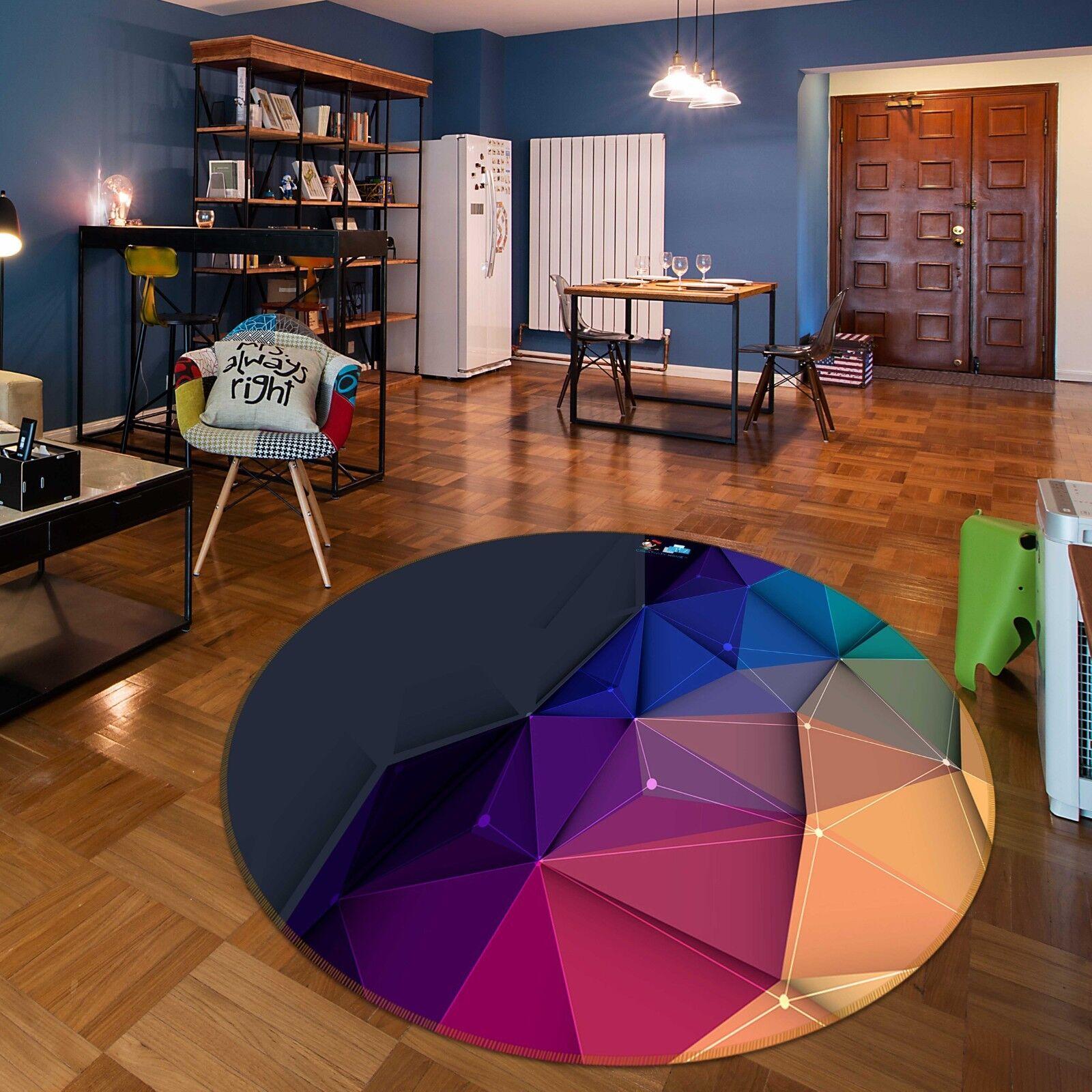 3d ColoreeeATO triangolo cubo 8 antiscivolo tappeto bagagliaio giri elegante TAPPETO de