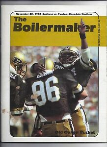1982 Purdue Football Program November 20th Old Oaken ...
