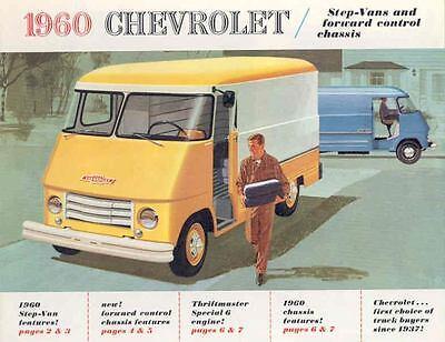 1960 Chevrolet Forward Control Truck Step Van Brochure 408-AERBD1